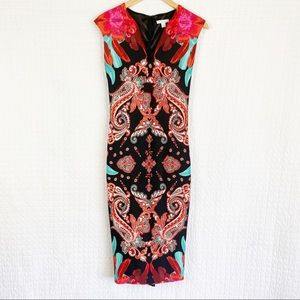New York & Co. Stretch Paisley Print Sheath Dress